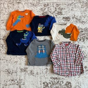 Other - BUNDLE - 6 Boys Long Sleeved Shirts 24 Months